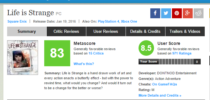 http://www.metacritic.com/game/pc/life-is-strange